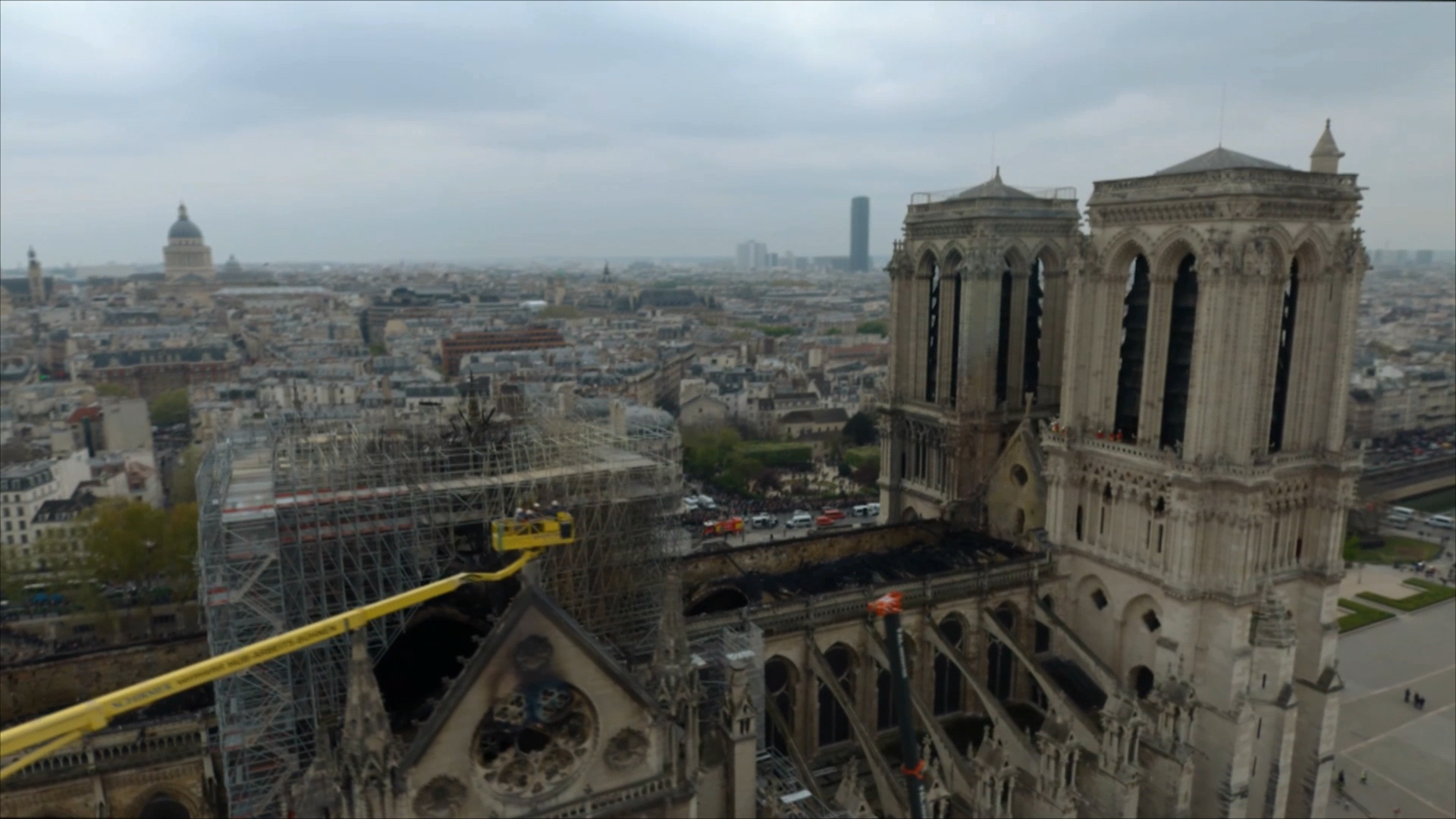 Notre Dame fire: New images show scale of destruction as experts eye iconic building's future