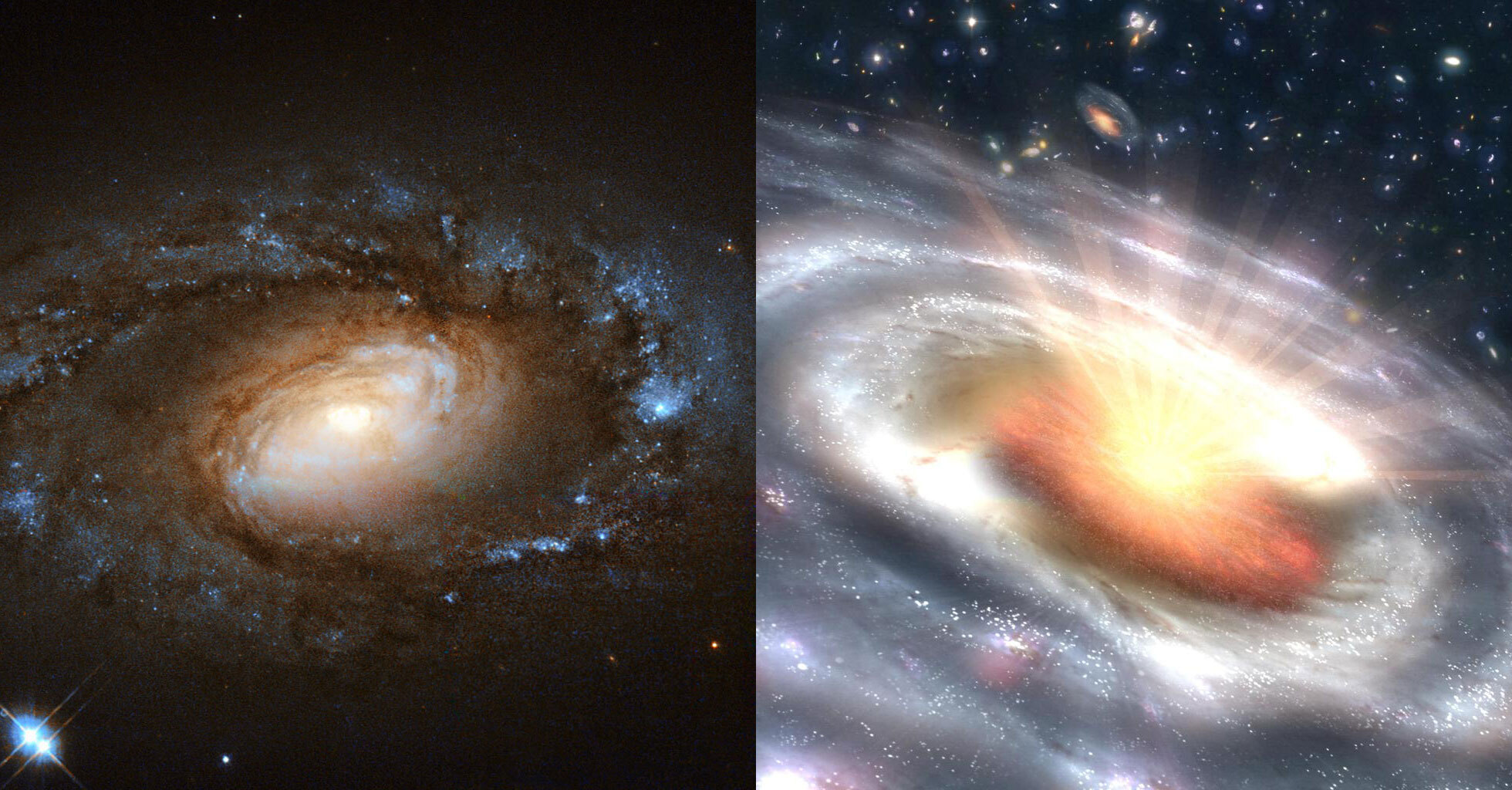 'Dramatic' black holes stun scientists as 'wimpy' galaxies quickly transform into 'ravenous' quasars