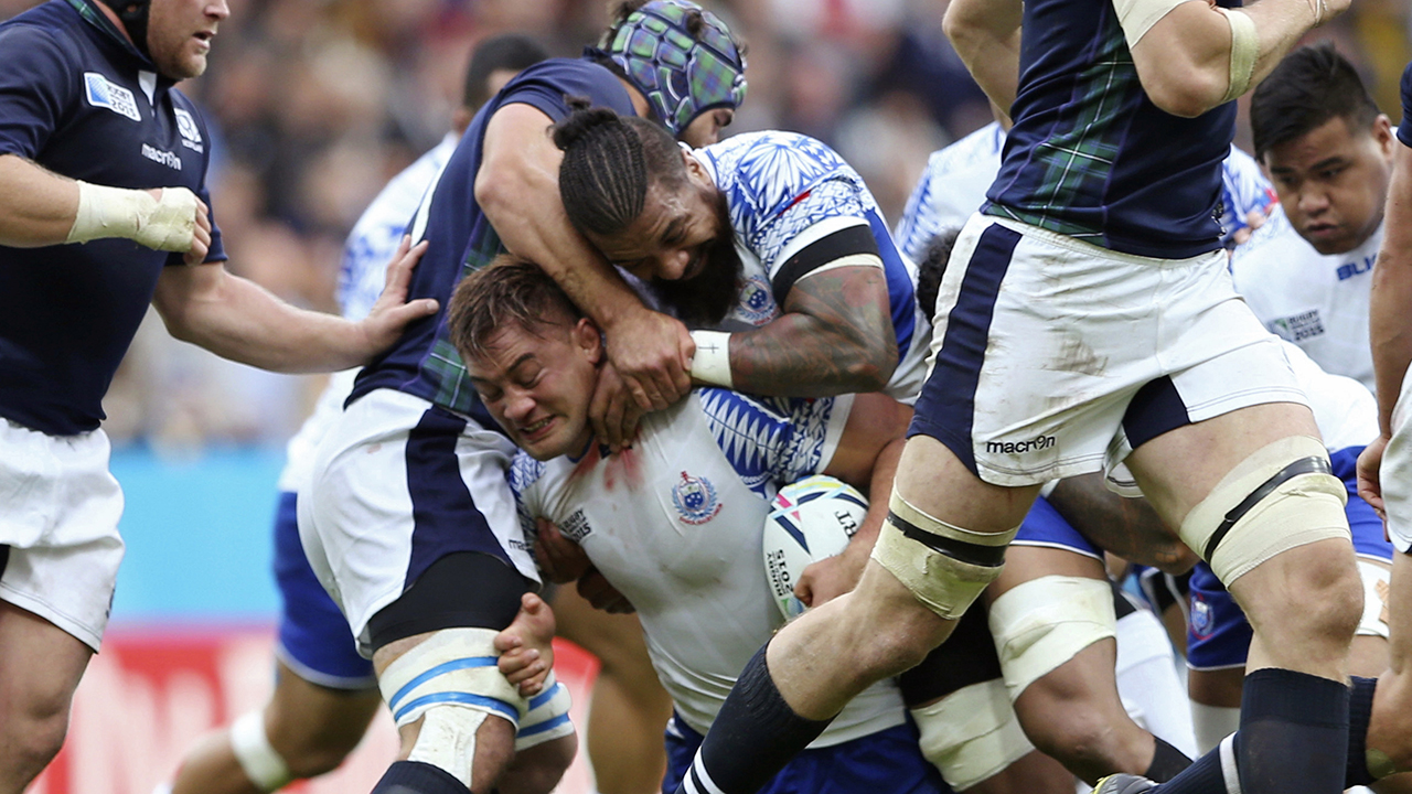 Samoa's tattooed rugby players to cover up at times in Japan