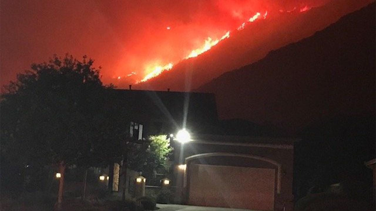 California's Tenaja Fire forces 1,200 to evacuate homes as schools close