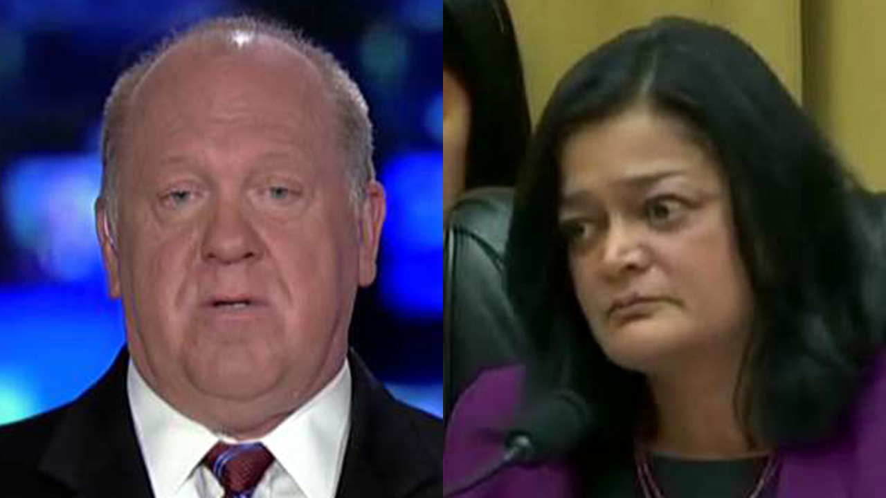 Westlake Legal Group Tom-Homan-Rashida-Tlaib Tom Homan on explosive clash with Democrat Jayapal: I refuse to let them 'sit there and tell lies' fox-news/us/immigration/illegal-immigrants fox-news/us/immigration fox-news/shows/fox-friends fox-news/person/rashida-tlaib fox-news/media/fox-news-flash fox news fnc/media fnc David Montanaro article 8c1e37ad-fd4a-53a3-9674-31e72c937d6f