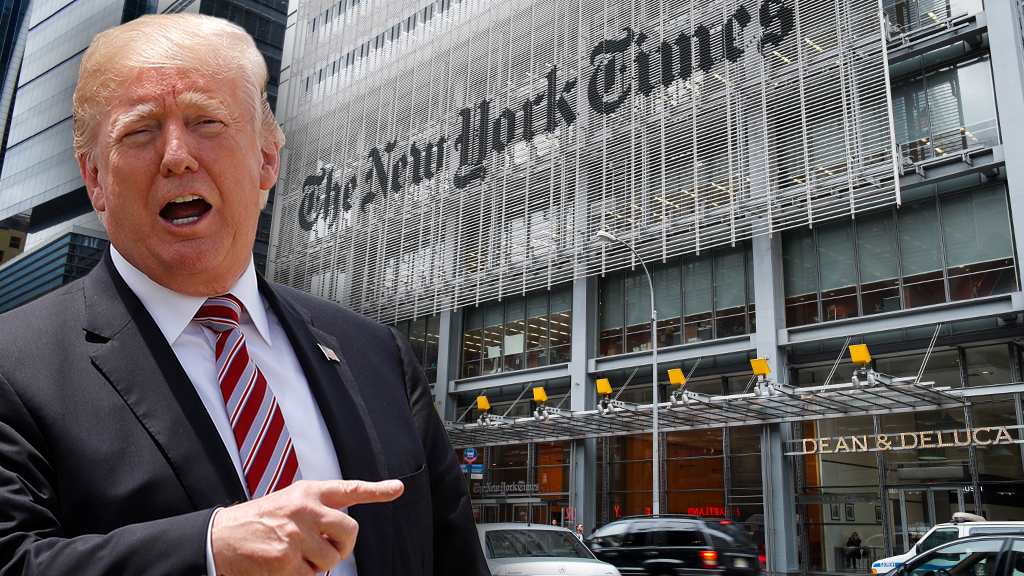 Trump rips New York Times over Kavanaugh piece, calls for resignation of anyone involved in 'SMEAR story'