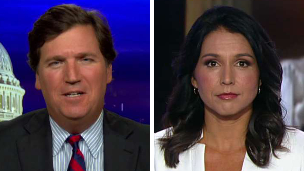 Westlake Legal Group Tucker-Gabbard_FOX Rep. Tulsi Gabbard: 9/11 made me want to 'dedicate my life to keeping the American people safe' fox-news/us/us-regions/west/hawaii fox-news/us/terror/september-11 fox-news/us/military/army fox-news/shows/tucker-carlson-tonight fox-news/politics/elections/democrats fox-news/politics/elections fox-news/politics/defense/armed-forces fox-news/politics/2020-presidential-election fox-news/person/tulsi-gabbard fox-news/media/fox-news-flash fox-news/media fox news fnc/media fnc Charles Creitz article 9cb7a582-33ef-59f6-bb8b-6f2426e9d5db