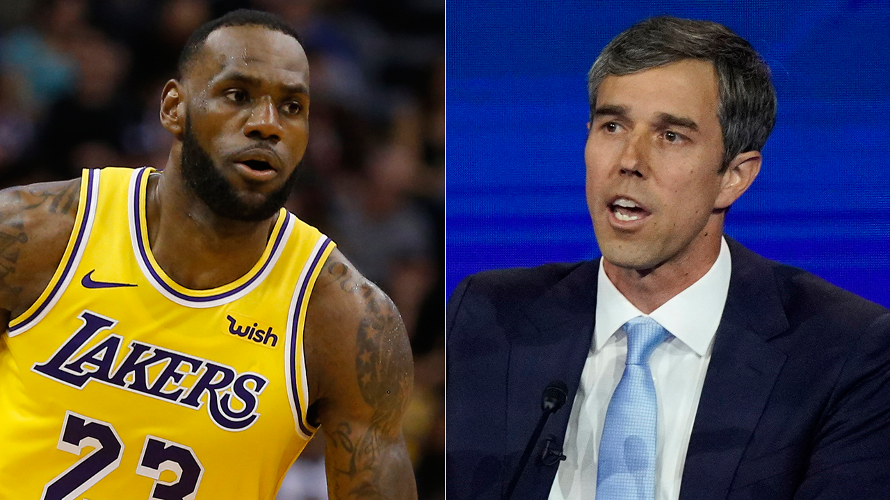 Westlake Legal Group beto-lebron Beto O'Rourke picks LeBron James over Michael Jordan as 'greatest basketball player of all time' Joseph Wulfsohn fox-news/sports/nba fox-news/sports fox-news/politics/elections fox-news/politics/2020-presidential-election fox-news/person/lebron-james fox-news/person/beto-orourke fox news fnc/media fnc article 76947c60-c3df-59a6-91be-d9d060b78206