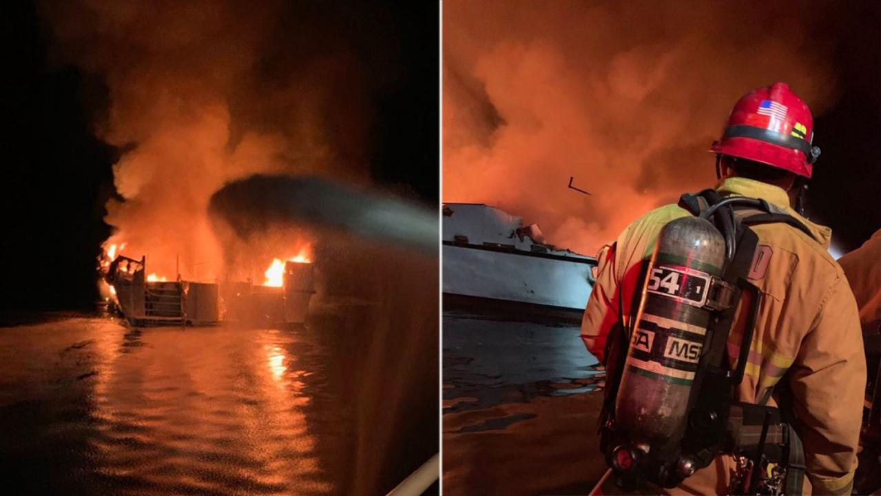 25 bodies found after California scuba boat fire, Coast Guard says