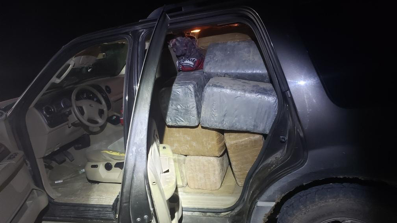 Abandoned SUV in Texas had 1,127 pounds of marijuana inside, driver left wallet in vehicle, sheriff's offic...