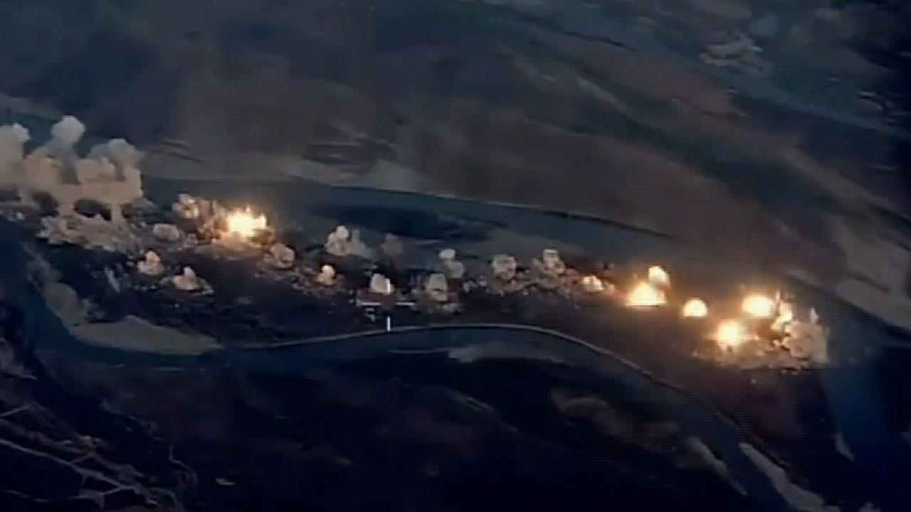 US bombs ISIS-'infested island' in Iraq, new video shows
