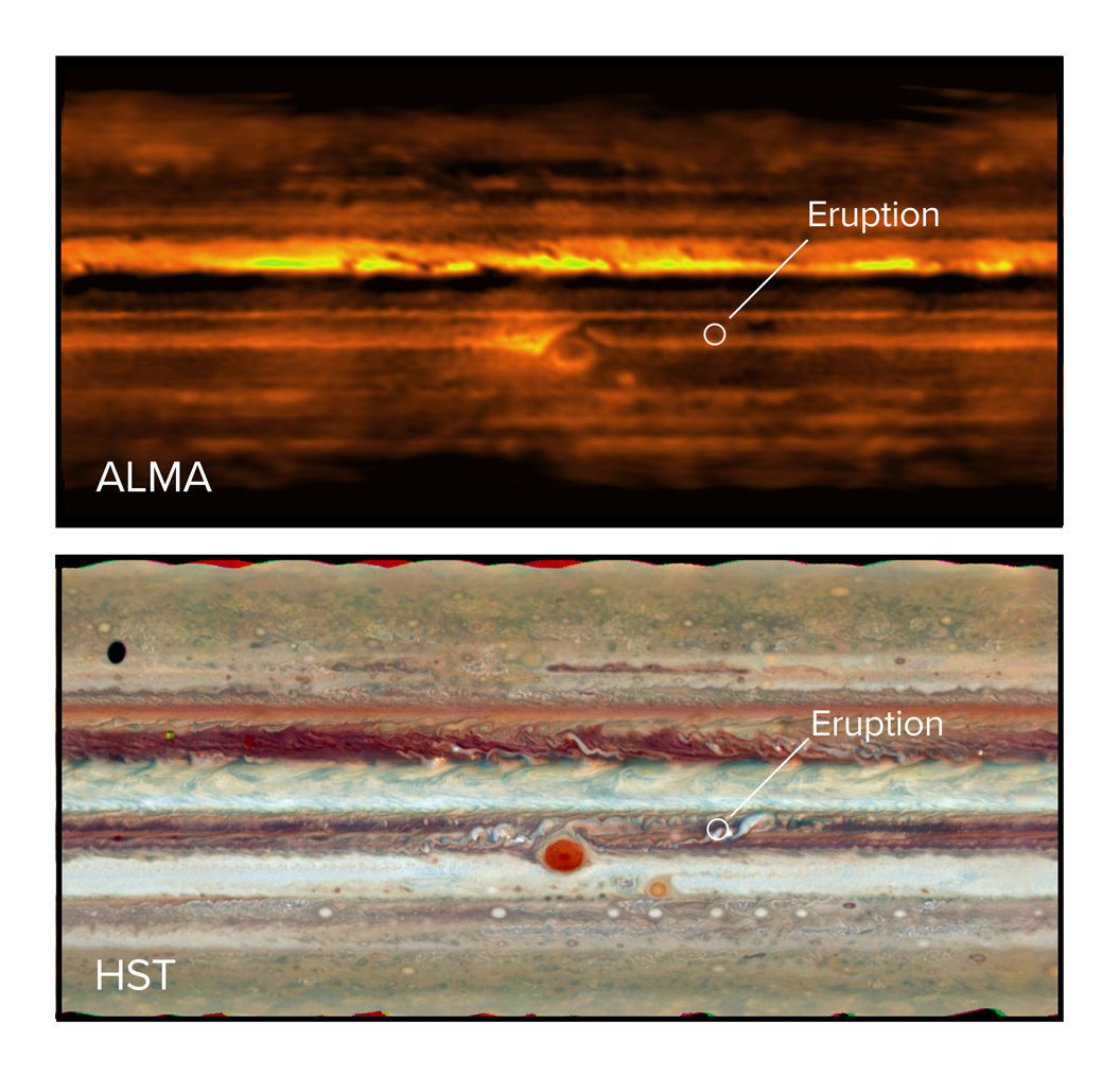 Intense ammonia storms on Jupiter are messing up the planet's belts