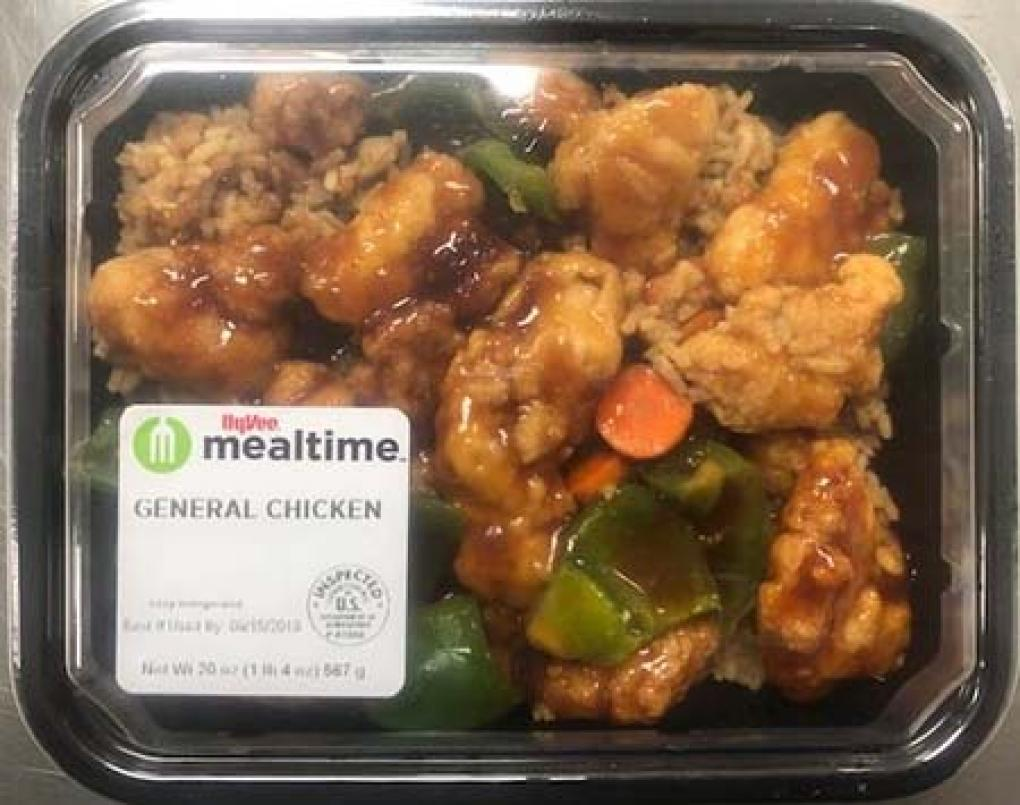 Hy-Vee recalls several Asian entrees over undeclared milk
