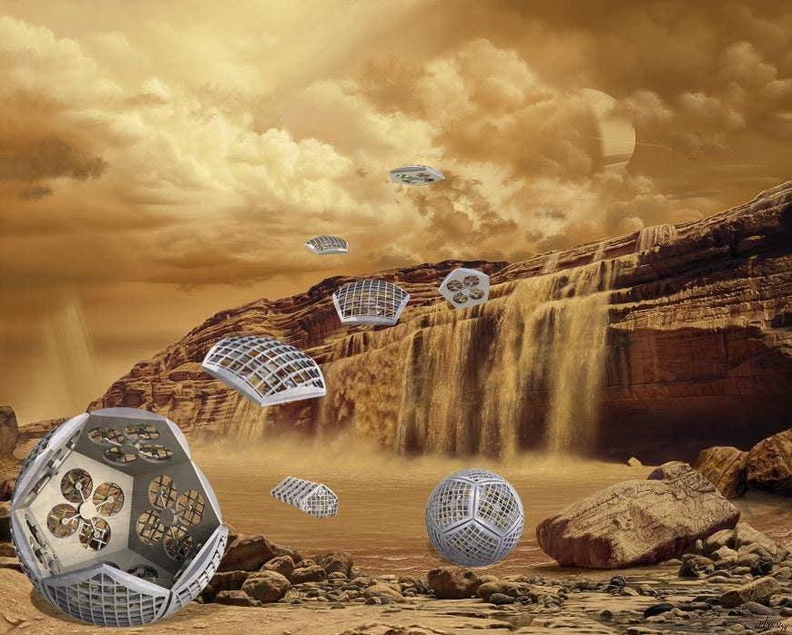 Amazing 'shapeshifter' robots could explore Saturn's moon Titan