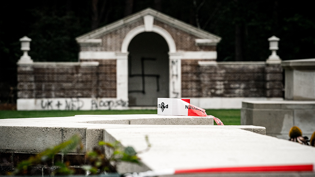 Vandals spray paint swastika, deface graves of fallen WWII soldiers in Netherlands