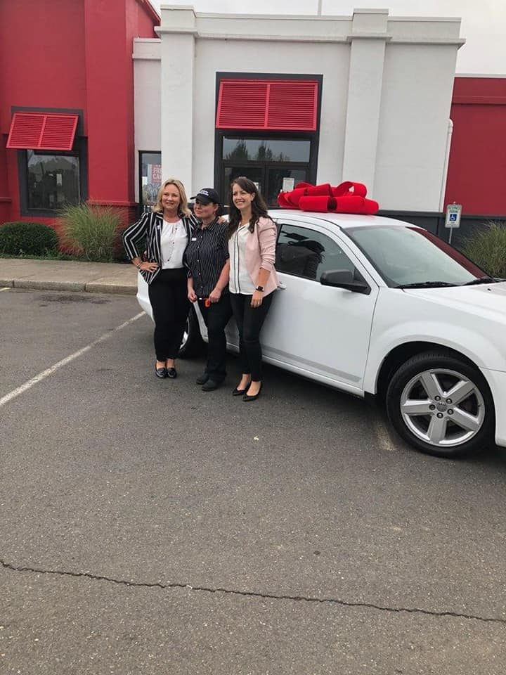 KFC gifts new car to employee who walks 6 miles a day for job