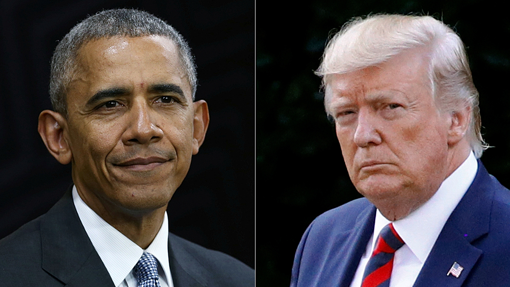 Westlake Legal Group obama-trump-AP-Reuters Trump accuses Obama of treason for 'spying' on his 2016 campaign Washington Examiner Paul Bedard fox-news/politics/executive/white-house fnc/politics fnc article 1b53b97e-aa62-52c9-8442-6842c0c4a22a
