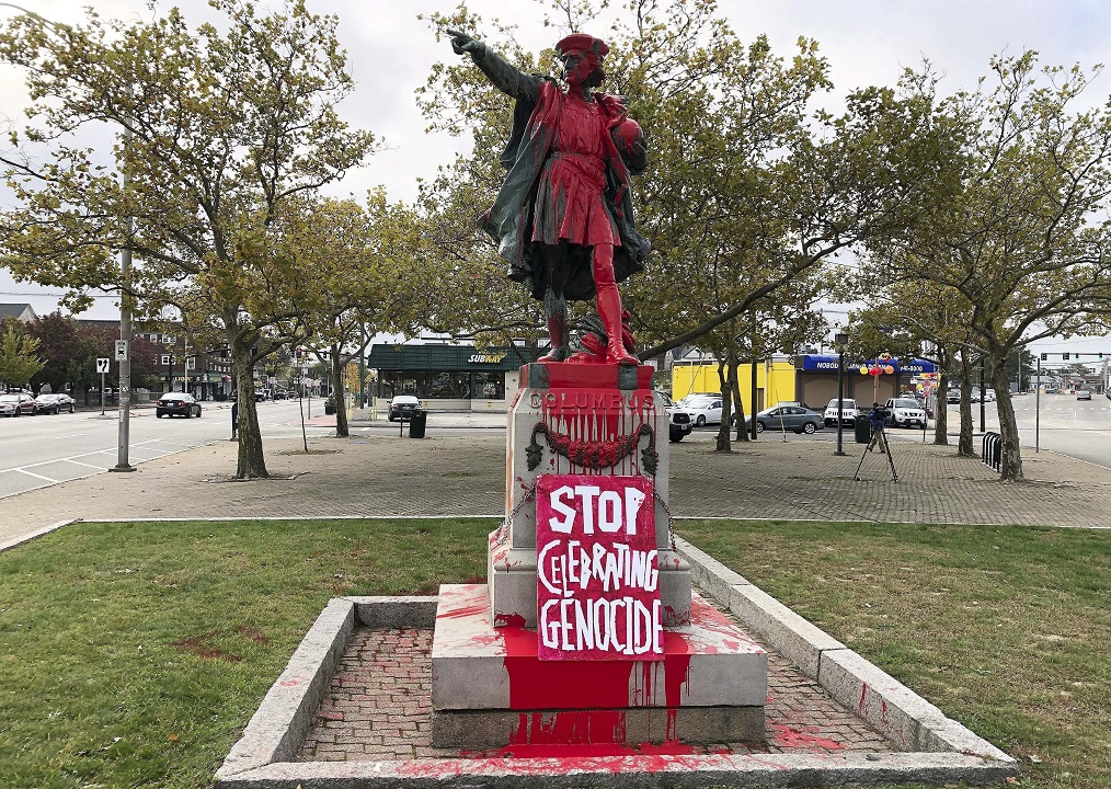 Rhode Island official says she supports vandalism of Christopher Columbus statue
