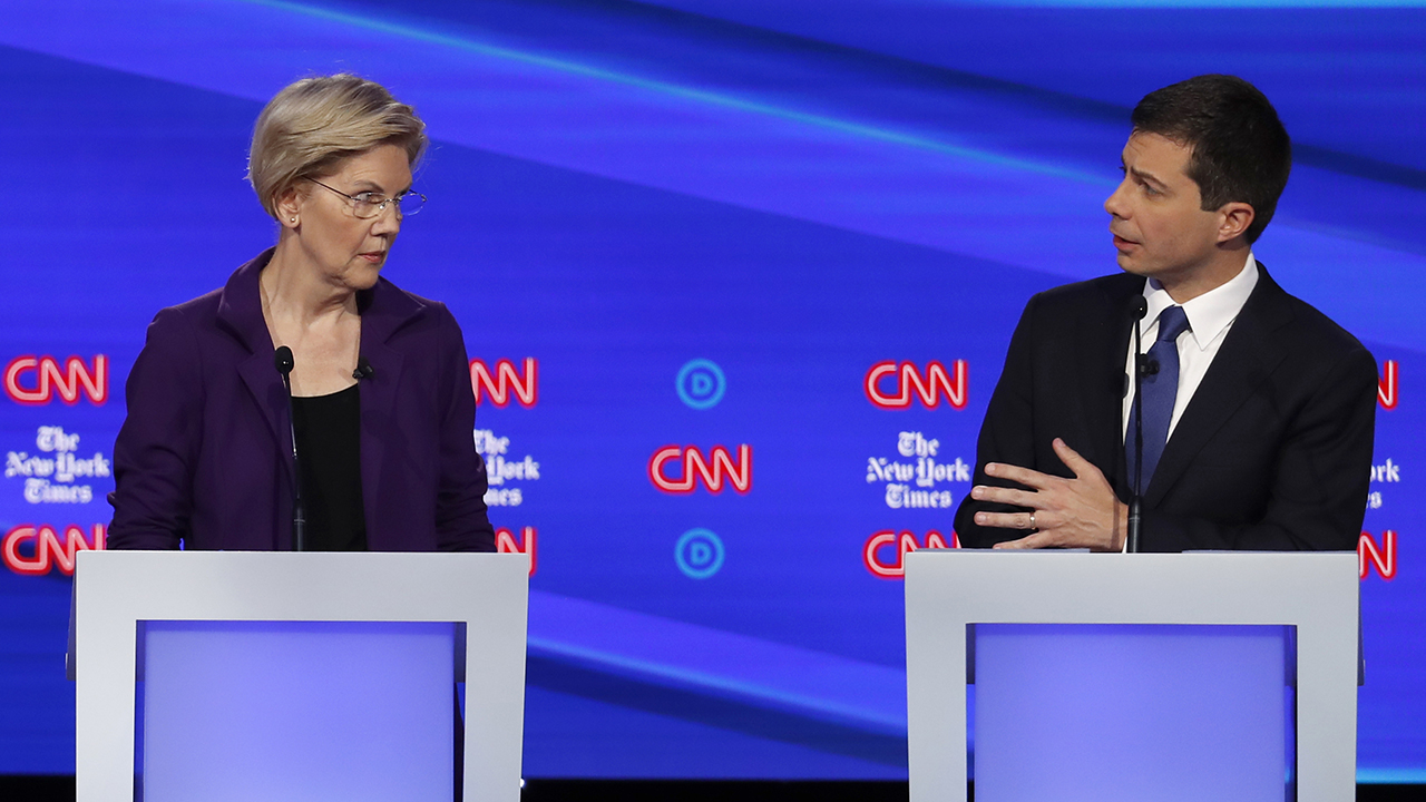Buttigieg's recent attack on Warren over Medicare-for-all contradicts previous debate