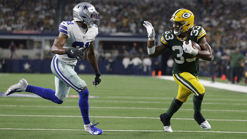 Green Bay Packers, Aaron Jones gelombang 'bye-bye' ke Dallas pertahanan dan $10G: Itu 'dope gambar'
