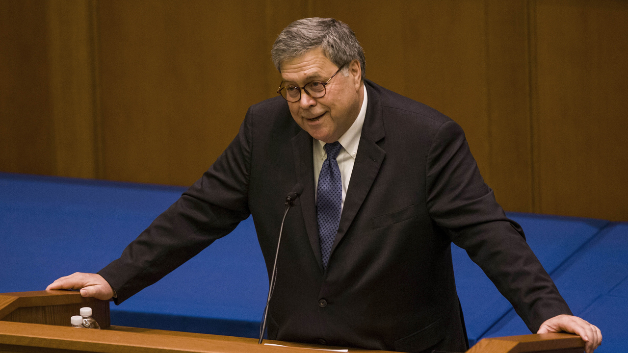 AG Barr blasts 'militant secularists' in speech on religious freedom