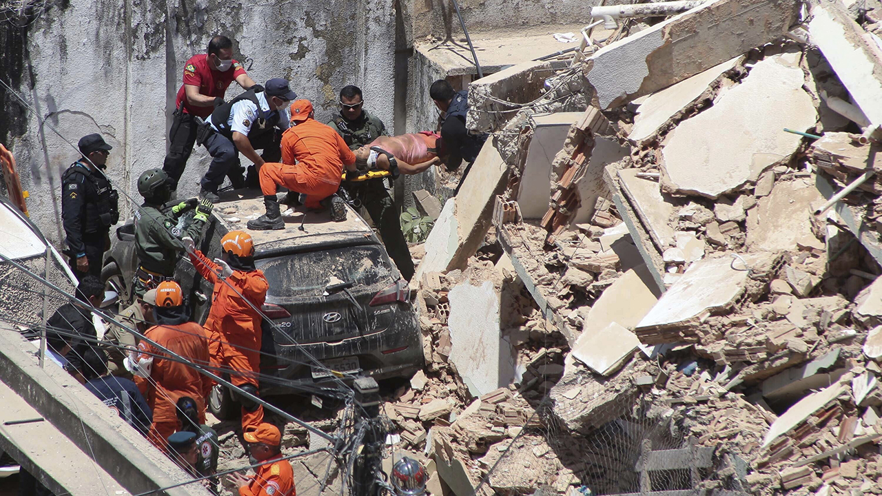 Brazil building collapse leaves at least 1 dead, other trapped under 'layers of debris'