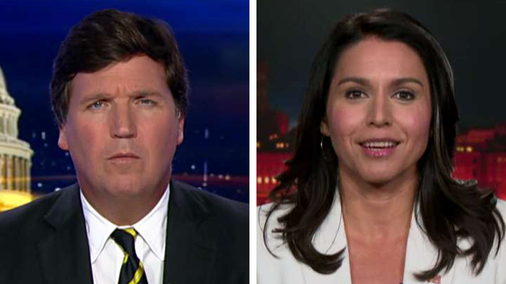 Westlake Legal Group Carlson-Gabard Tulsi Gabbard calls Hillary Clinton a 'warmonger,' says US troops should leave Iraq and Syria Victor Garcia fox-news/world/world-regions/iraq fox-news/world/conflicts/syria fox-news/world/conflicts/iran fox-news/shows/tucker-carlson-tonight fox-news/politics/the-clintons fox-news/media/fox-news-flash fox-news/media fox news fnc/media fnc article 799a03e1-8a84-5f18-bfdf-92184e00ddee
