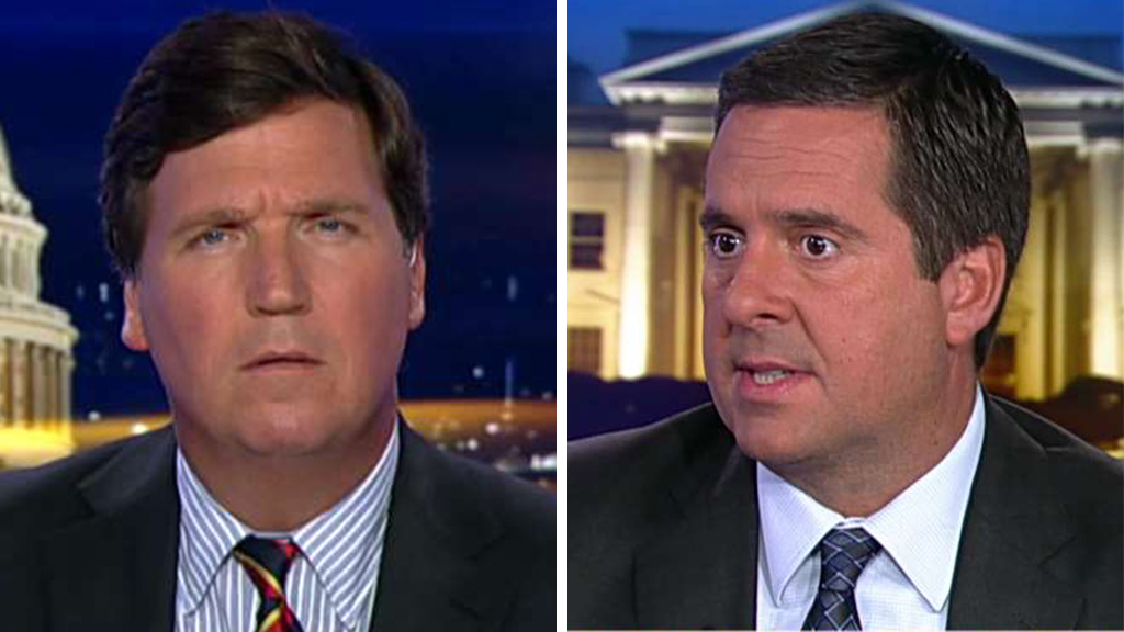 Westlake Legal Group Carlson-Nunes Devin Nunes slams Dems' impeachment inquiry as 'not real': 'It's a partisan adventure' fox-news/topic/fox-news-flash fox-news/shows/tucker-carlson-tonight fox-news/politics/trump-impeachment-inquiry fox-news/person/devin-nunes fox news fnc/media fnc Charles Creitz article 6f72def2-00bf-5a96-90b6-b5122cdf0a88
