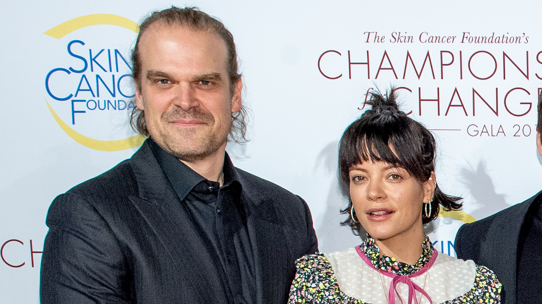 David Harbour shares first Instagram picture with Lily Allen: 'The prince, princess and the parking lot'