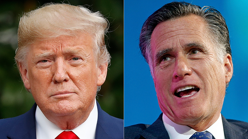 Westlake Legal Group Donald-Trump-Mitt-Romney-AP Trump calls Romney 'pompous a--' after criticism for appeals to China, Ukraine fox-news/politics/trump-impeachment-inquiry fox-news/person/donald-trump fox news fnc/politics fnc c7e84399-7d15-5ebf-aa4b-fc879aa5c153 article Adam Shaw