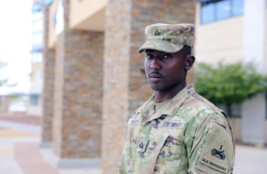 Soldier hailed as hero after El Paso shooting arrested on suspicion of going AWOL