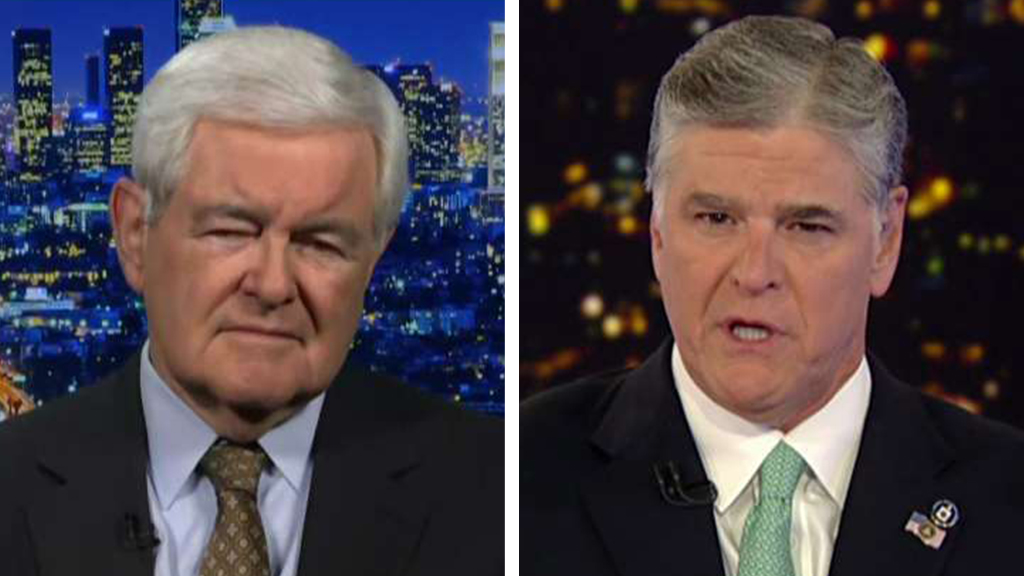 Westlake Legal Group Gingrich-Hannity Newt Gingrich: Pelosi, Schiff and Democrats 'living out their fantasies' with impeachment inquiry Victor Garcia fox-news/shows/hannity fox-news/politics/trump-impeachment-inquiry fox-news/person/nancy-pelosi fox-news/person/adam-schiff fox-news/media/fox-news-flash fox-news/media fox news fnc/media fnc article 5f6d40b1-9689-5be8-acb3-1a531fde3595