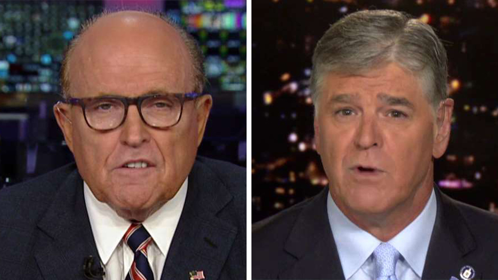 Westlake Legal Group Giuliani-Hannity-2 Rudy Giuliani claims unsolicited Biden info sparked his Ukraine probe on behalf of Trump: 'They put it in my lap' fox-news/world/conflicts/ukraine fox-news/us/democratic-party fox-news/shows/hannity fox-news/politics/trump-impeachment-inquiry fox-news/politics/executive/law fox-news/person/joe-biden fox-news/person/donald-trump fox-news/media/fox-news-flash fox-news/media fox news fnc/media fnc Charles Creitz article 75c0f045-74f8-5a4b-8a32-71183e303fe6