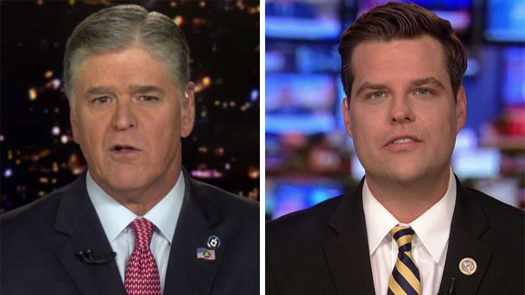 Westlake Legal Group Hannity-Gaetz Gaetz blasts Schiff for removing him from 'unfair' impeachment inquiry hearing fox-news/world/conflicts/ukraine fox-news/politics/trump-impeachment-inquiry fox-news/politics/house-of-representatives fox-news/politics/elections/democrats fox-news/politics/2020-presidential-election fox-news/person/donald-trump fox-news/person/adam-schiff fox-news/media/fox-news-flash fox-news/media fox news fnc/media fnc Charles Creitz article 27f4ebf2-5085-5f32-9037-b03530b23d48