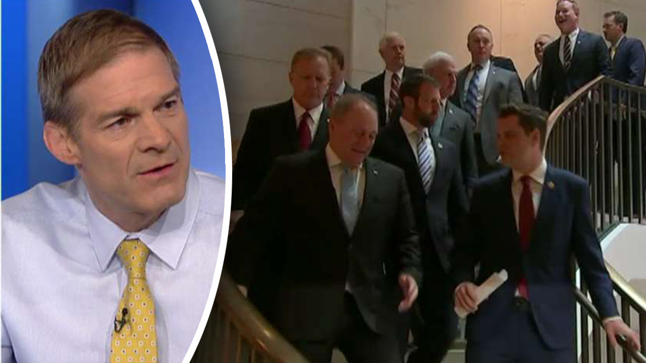 Westlake Legal Group Jordan-Republicans Jim Jordan defends GOP lawmakers who stormed impeachment inquiry room fox-news/shows/ingraham-angle fox-news/politics/trump-impeachment-inquiry fox-news/politics/elections/house-of-representatives fox-news/person/jim-jordan fox-news/person/donald-trump fox-news/person/adam-schiff fox-news/media/fox-news-flash fox-news/media fox news fnc/media fnc Charles Creitz article 3967f76d-7ab9-5521-9c7e-e9bda62fff6f