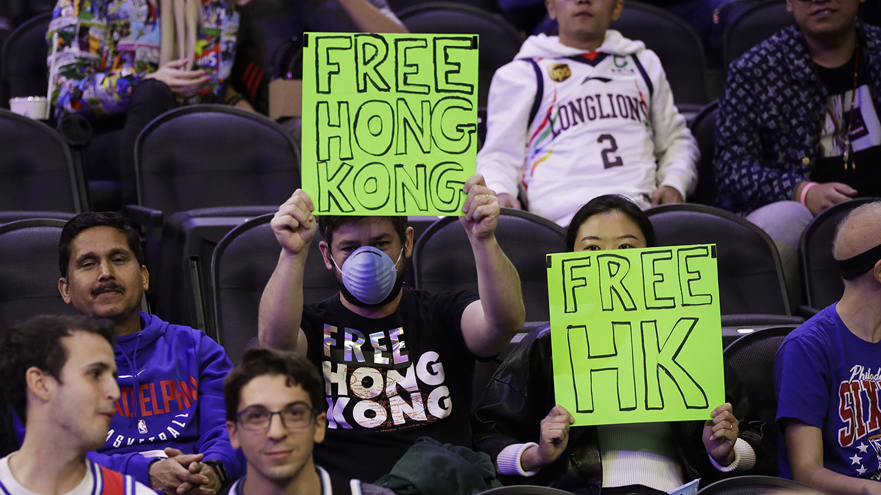 Westlake Legal Group NBA-Free-HK Pro-Hong Kong NBA fan booted from Philadelphia 76ers preseason game against Chinese team Ryan Gaydos fox-news/world/world-regions/hong-kong fox-news/world/world-regions/china fox-news/sports/nba/philadelphia-76ers fox-news/sports/nba fox news fnc/sports fnc article a5f30ac5-b454-5a9f-8136-95bbe502bea7
