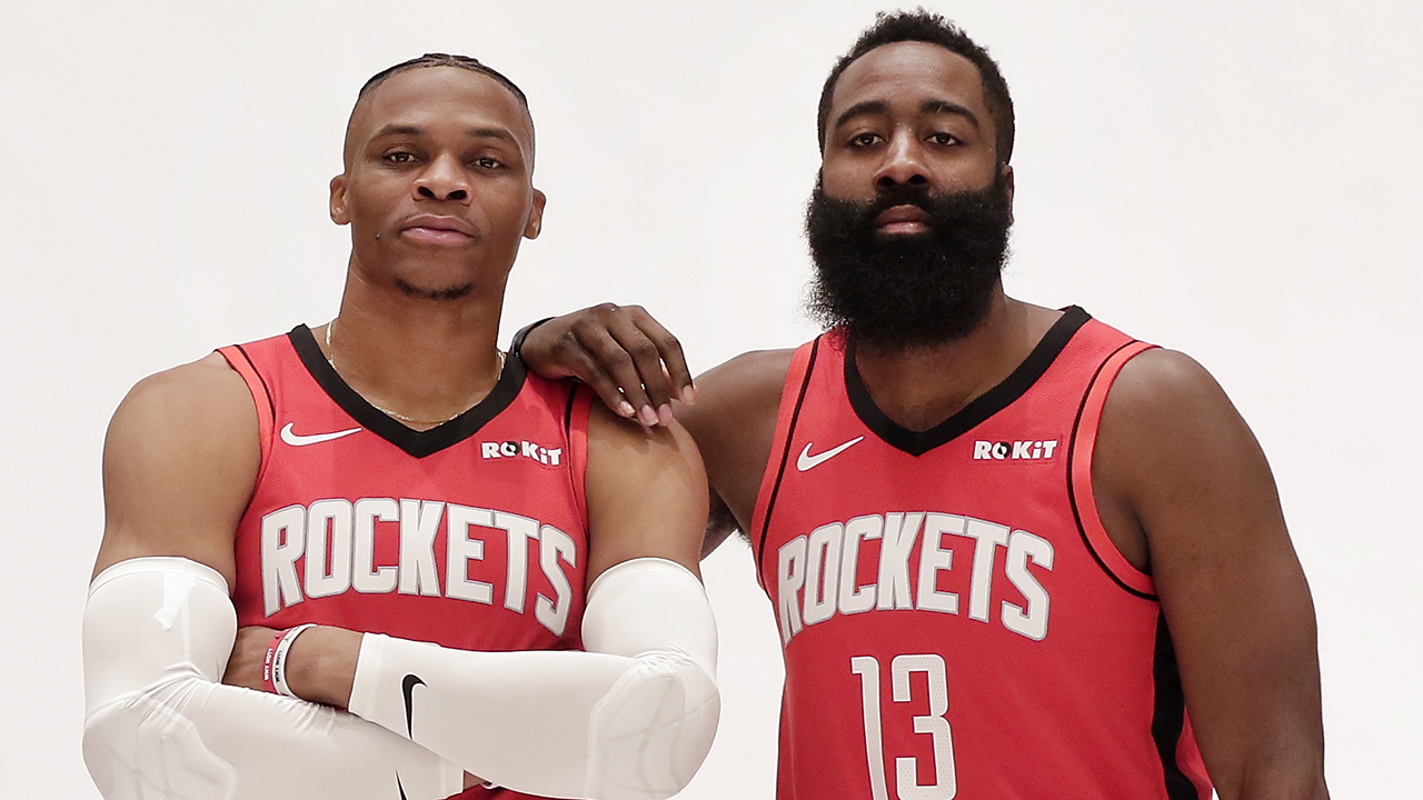 Westlake Legal Group NBA-Harden-Westbrook NBA in China: Rockets shut down question to James Harden, Russell Westbrook about tweet fallout Ryan Gaydos fox-news/world/world-regions/hong-kong fox-news/world/world-regions/china fox-news/sports/nba/houston-rockets fox-news/sports/nba fox news fnc/sports fnc article 5b7f1ddb-fcad-59e1-8843-450f239a20a9