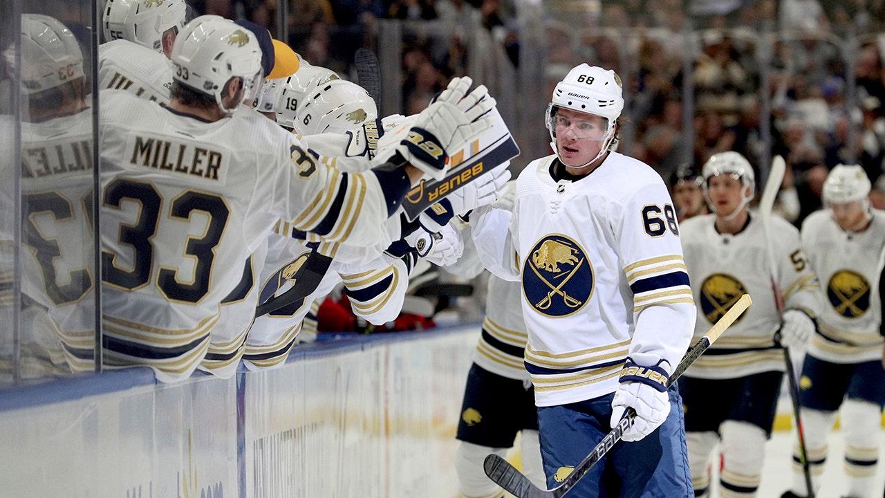 通報ルーキー Olofsson関係、NHL電力-再生の目標の記録