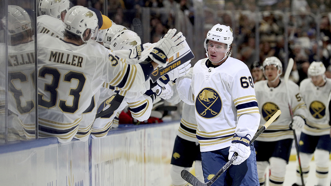 Sabres rookie Olofsson ikatan NHL power-play rekor gol