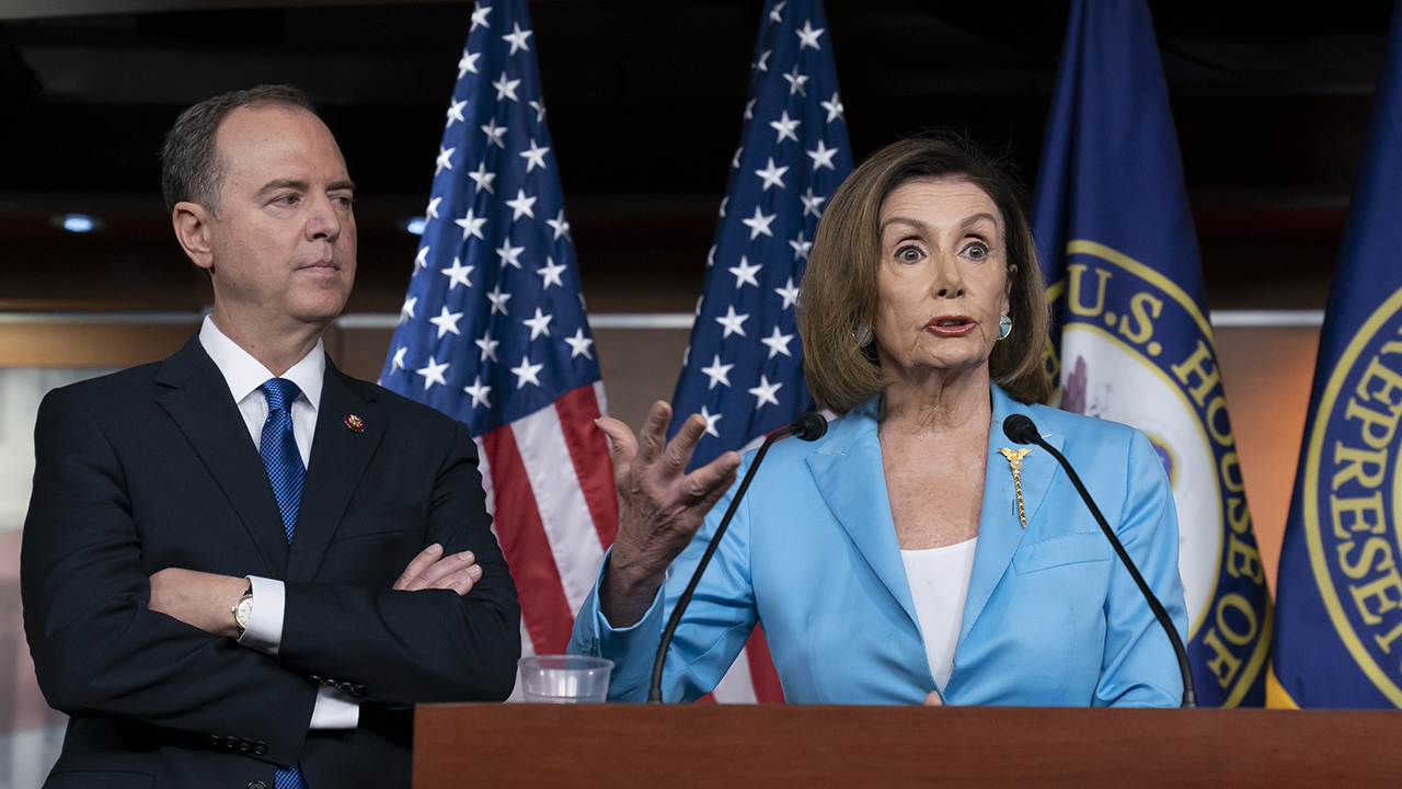 Westlake Legal Group Pelosi-Schiff Pergram: Dems want another independent counsel, about 80 percent chance they'll hold impeachment vote Sam Dorman fox-news/politics/trump-impeachment-inquiry fox-news/politics/house-of-representatives/democrats fox-news/person/donald-trump fox-news/media/fox-news-flash fox news fnc/media fnc b78a34c2-8ac4-5ad7-9587-0cbb19c0ed61 article