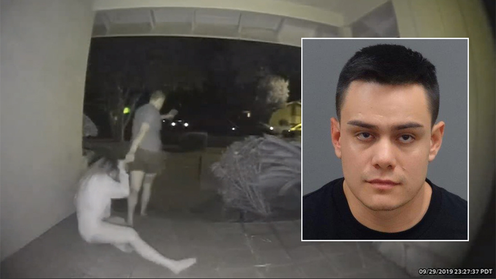California man arrested after violent assault, kidnapping of estranged girlfriend caught on doorbell footage