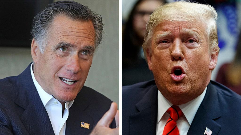 Romney nimmt Schüsse auf Trumpf über Rennen, sagt er aufzugeben Kurden in Syrien