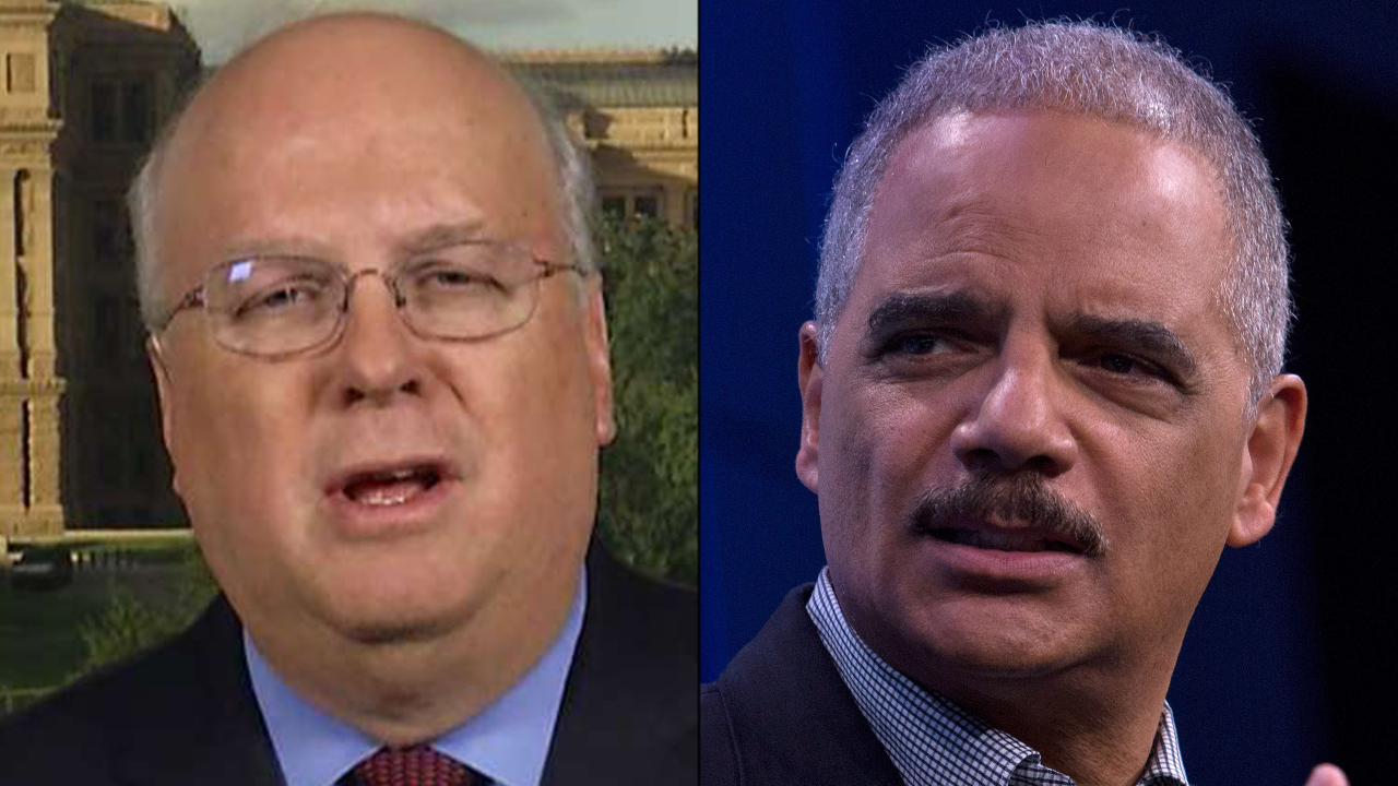 Karl Rove blasts ex-Obama Attorney General Eric Holder's criticism of William Barr