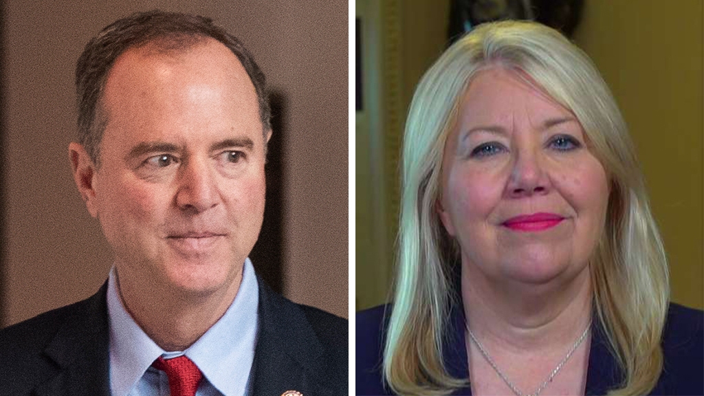 Westlake Legal Group Schiff-Lesko_AP-FOX Lawmaker leading charge to censure Adam Schiff says he's engineering 'total political hit job' on Trump fox-news/us/us-regions/southwest/arizona fox-news/politics/trump-impeachment-inquiry fox-news/politics/house-of-representatives/democrats fox-news/politics/house-of-representatives fox-news/person/donald-trump fox-news/person/adam-schiff fox-news/media/fox-news-flash fox-news/media fox news fnc/media fnc Charles Creitz article 48acc87a-8a1c-539b-86ec-3dc0caea3064