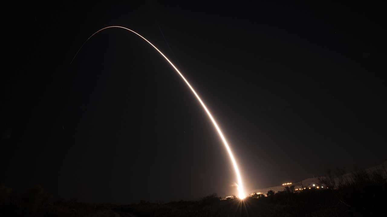 Air Force test-launches intercontinental ballistic missile in California
