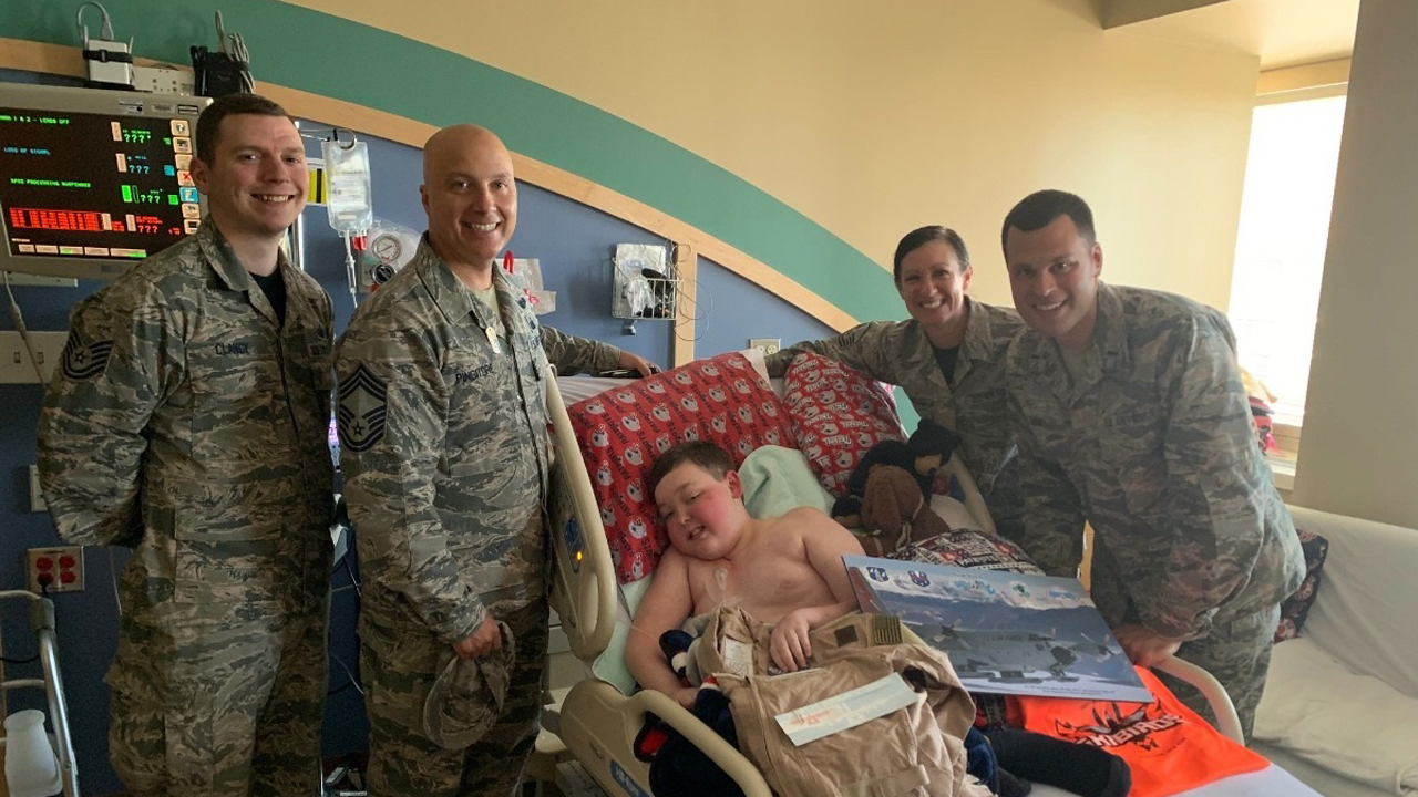 Boy, 11, with terminal brain cancer asks for 'patches and prayers' from military, law enforcement, fire com...