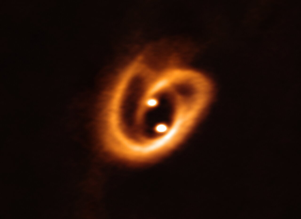 Astronomers discover 'cosmic pretzel' 700 light-years away from Earth