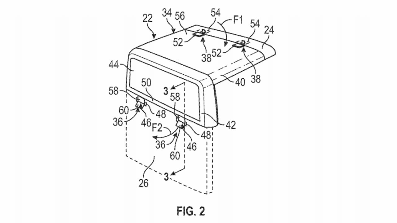 Ford patents convertible pickup roof