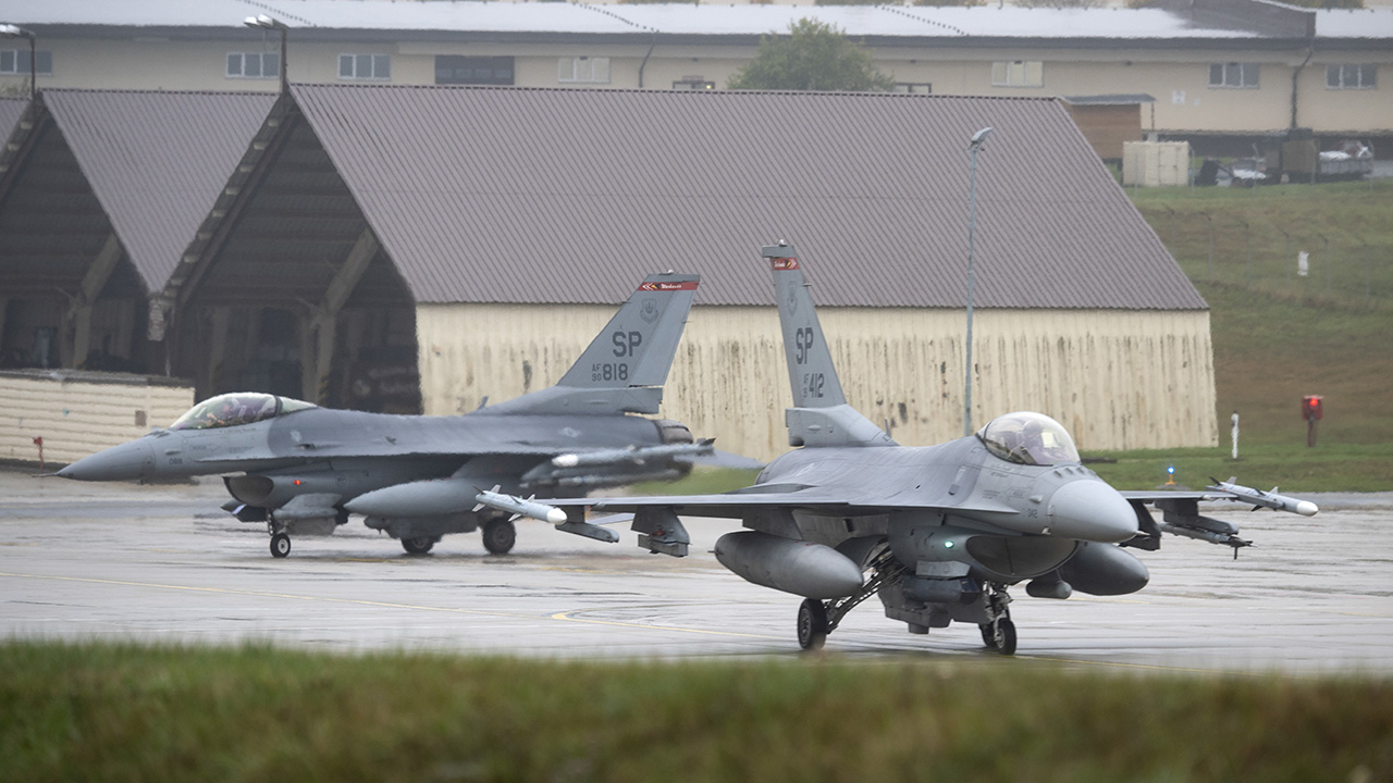 Air Force F-16 crashes in Germany, pilot suffers minor injuries