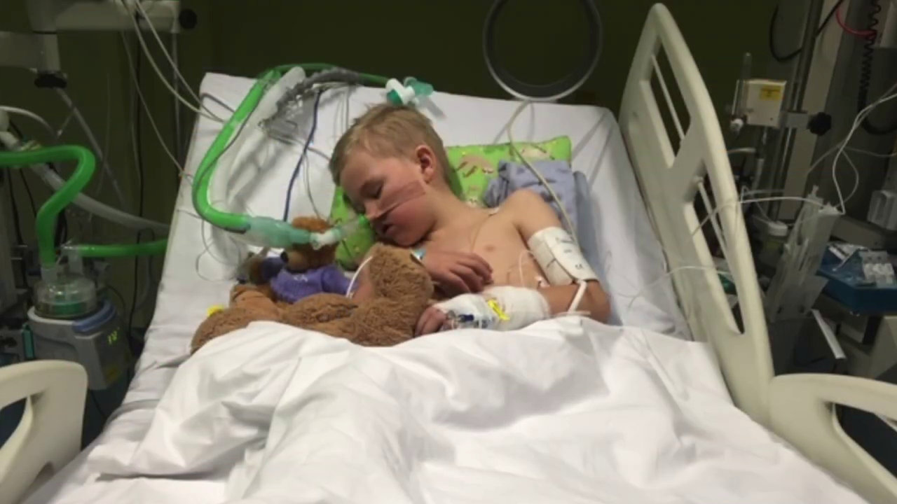 Mom details 'healthy' son's 'scary' flu battle: 'It was really sad'