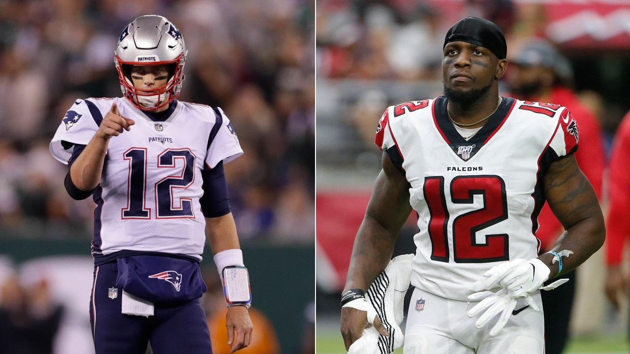 New England Patriots' Tom Brady offers Mohamed Sanu No. 12 jersey after trade: 'nah I'm good'