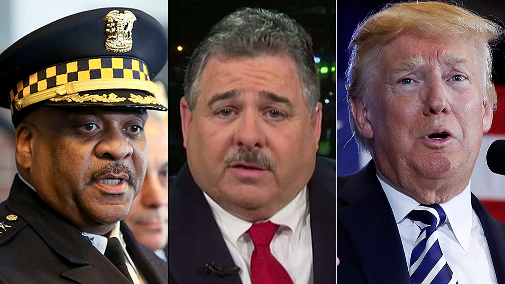 Chicago police union blasts chief for skipping Trump speech: 'We do not engage in political activity'