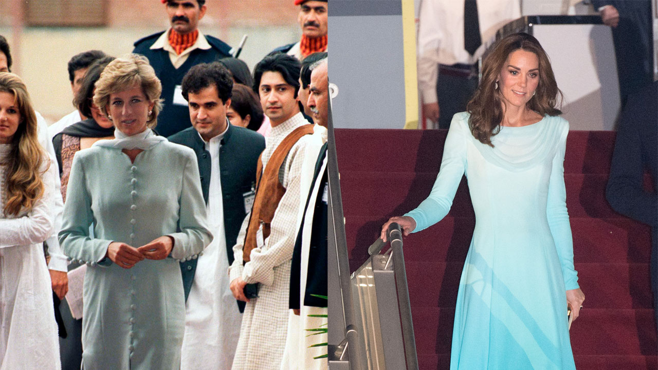 Kate Middleton echoes Princess Diana's style for Pakistan tour