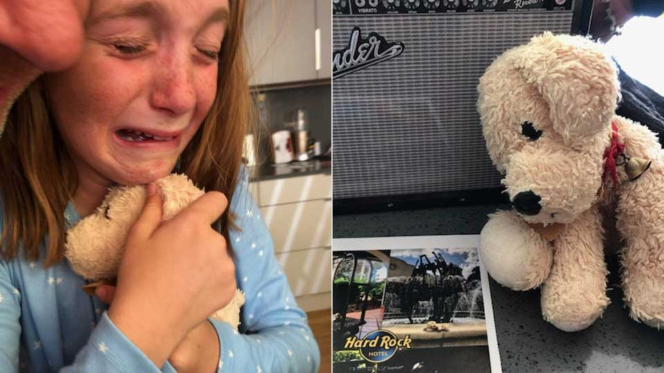 Hotel reunites girl, 10, with stuffed animal she left behind on vacation